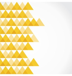 Yellow triangle background vector image vector image