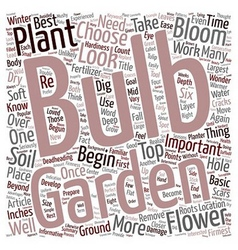 Flower Bulbs text background wordcloud concept vector image vector image