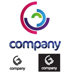 half circles modern logo vector image vector image