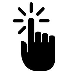 Hand click icon vector image vector image