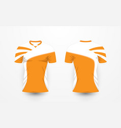 orange and white pattern sport football kits vector image