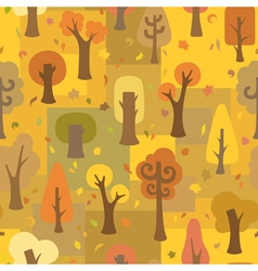 Seamless autumnal pattern vector image vector image