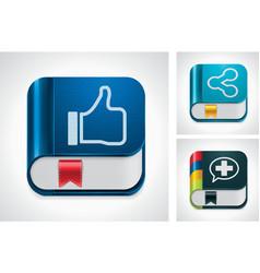 social media sharing vector image