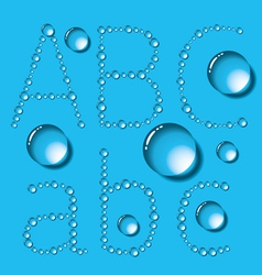 Water Drop Letters On Blue New 01 vector image vector image