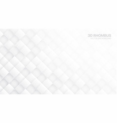 3d rhombus tech abstract white background vector