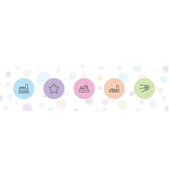 5 trendy icons vector