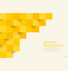 abstract background yellow square geometric vector image