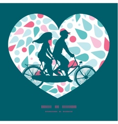 abstract colorful drops couple on tandem vector image