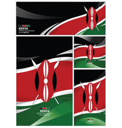 abstract kenya flag background vector image