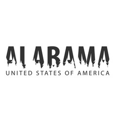 alabama usa united states of america text or vector image