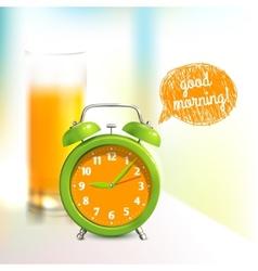 Alarm clock background vector image