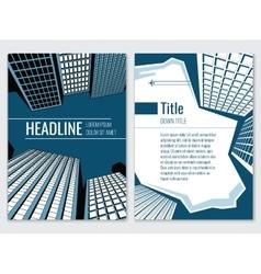 Architecture design concept Business brochure vector image