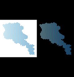 Armenia map hex-tile mosaic vector