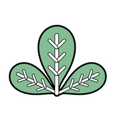 Botany leaves to ecology care symbol vector