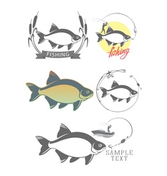 Bream fishing logo vector