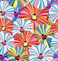 Bright seamless pattern with colorful striped vector image