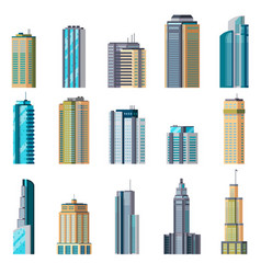 Buildings and modern city houses building vector