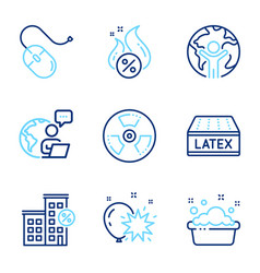 Business icons set included icon as hot loan vector