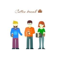 Business Team on Coffee Break vector image