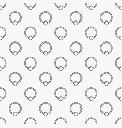 captive ring seamless pattern piercing vector image