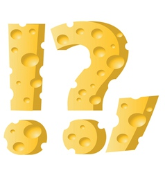 cheese question mark vector image vector image
