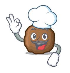 Chef meatball character cartoon style vector
