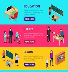 Children student and teacher education concept vector