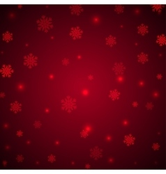 Christmas red background with snowflakes and vector