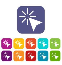 Click icons set vector