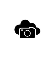 cloud photo storage flat icon vector image