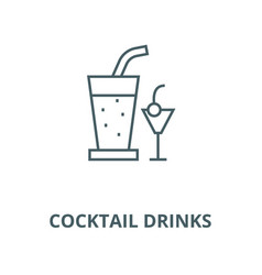 cocktail drinks line icon cocktail drinks vector image