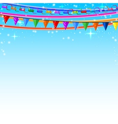Colorful lace pins chains garlands vector