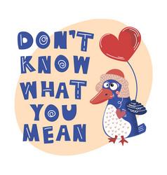 crazy bird valentine day cartoon animal set vector image