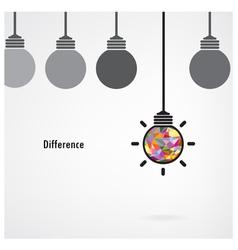 Creative light bulb signs vector