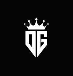 dg logo monogram emblem style with crown shape vector image