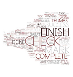 done word cloud concept vector image