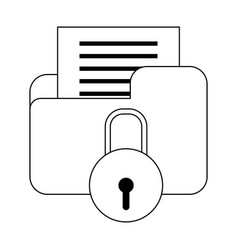 file and padlock design vector image