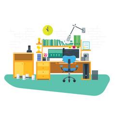 Flat freelancer workspace vector