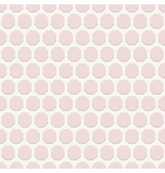 Geometric Seamless Pattern with Pink Octagons vector
