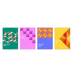 geometric set of brochures vector image