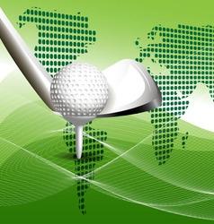 golbal golf concept vector image
