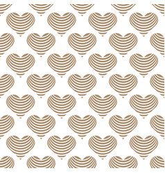 gold heart on white background valentines day vector image