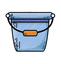Grated pail plastic object to clean house vector