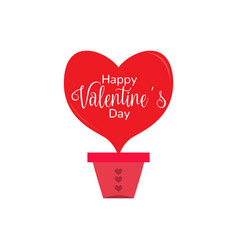 heart shaped air balloon valentine day vector image