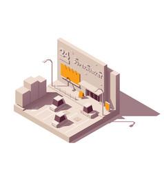 isometric advertising on supermarket vector image