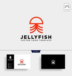 jellyfish simple elegant creative logo template vector image