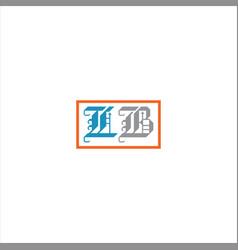 L b letter logo design on black color background vector