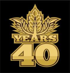 Laurelnew new 40 godina vector