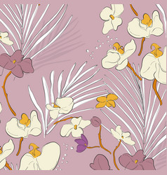leaf orchid pattern beautiful spring texture with vector image