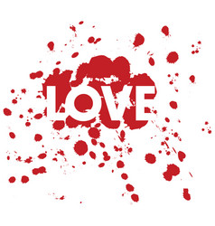love dots vector image